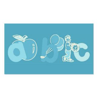 Pale Blue ABC Alphabet Logo for Boys Business Cards
