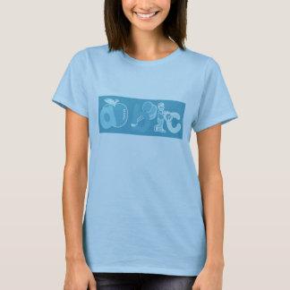 Pale Blue ABC Alphabet Logo for Boys T-Shirt