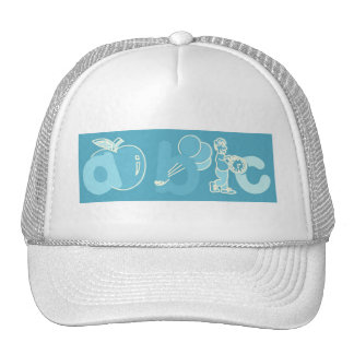 Pale Blue ABC Alphabet Logo for Boys Trucker Hat