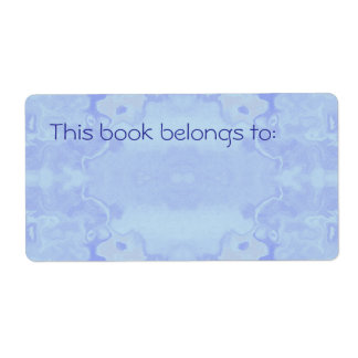 Pale Blue Abstract Simple Bookplate Custom Shipping Labels
