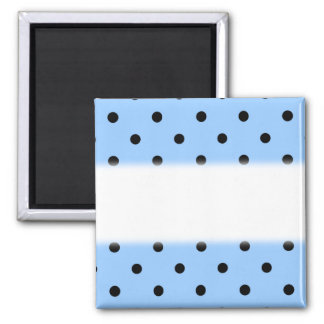 Pale Blue and Black Polka Dot Pattern. Magnet