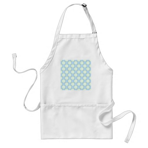 Pale Blue and Green Cucumber Pattern. Adult Apron