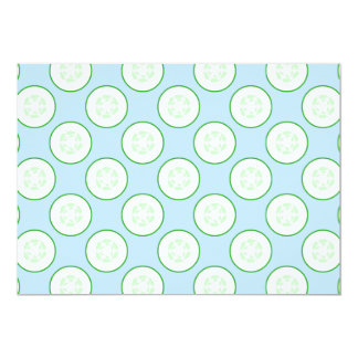 Pale Blue and Green Cucumber Pattern. Invitations