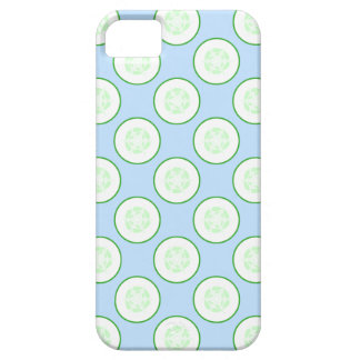 Pale Blue and Green Cucumber Pattern. iPhone SE/5/5s Case