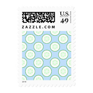 Pale Blue and Green Cucumber Pattern. Stamps