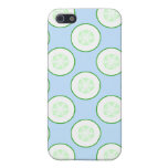 Pale Blue and Green Cucumber Pern. Cover For iPhone 5