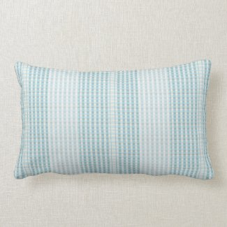 Pale Blue and Taupe Indoor Lumbar Pillow
