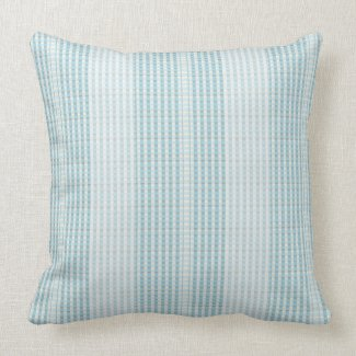 Pale Blue and Taupe Indoor Pillow 20x20