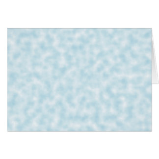 Pale Blue and White Abstract Clouds Pattern Card