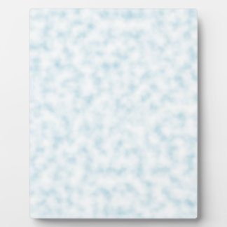 Pale Blue and White Abstract Clouds Pattern Plaque
