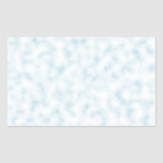Pale Blue and White Abstract Clouds Pattern Rectangular Sticker