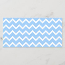 Pale Blue and White Zig zag Stripes.