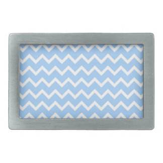 Pale Blue and White Zig zag Stripes. Belt Buckles