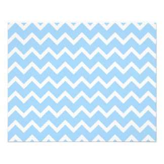 Pale Blue and White Zig zag Stripes. Flyer