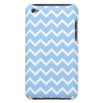Pale Blue and White Zig zag Stripes. iPod Touch Cover