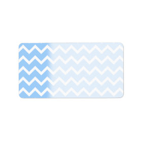 Pale Blue and White Zig zag Stripes. Custom Address Label