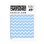 Pale Blue and White Zig zag Stripes. Stamp