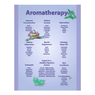Pale Blue Aromatherapy Chart Flyer