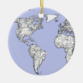 pale blue atlas ceramic ornament