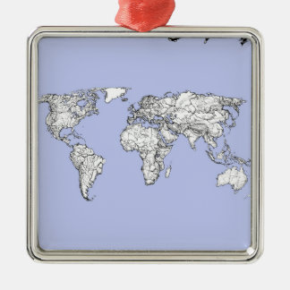 pale blue atlas metal ornament