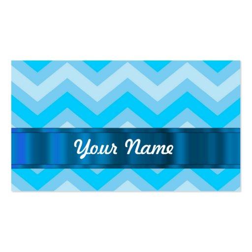Pale blue chevrons business card templates