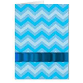 Pale blue chevrons card