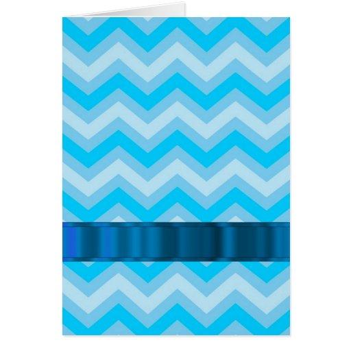 Pale blue chevrons cards