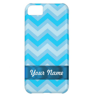 Pale blue chevrons iPhone 5C covers