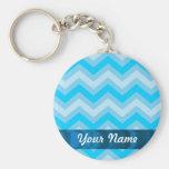 Pale blue chevrons keychains