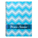 Pale blue chevrons note book