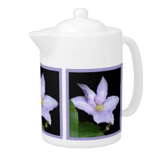 Pale Blue Clematis Teapot