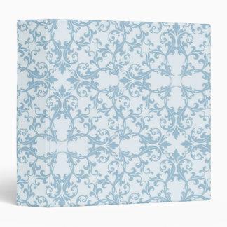 Pale Blue Damask Binder