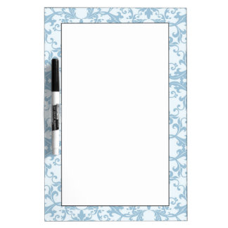 Pale Blue Damask Dry Erase Board