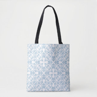 Pale Blue Damask Tote Bag