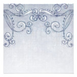 Pale Blue Denim Swirls Customizable Invitations