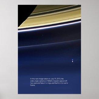 Pale Blue Dot - Cassini ⛔ HQ-quality Poster
