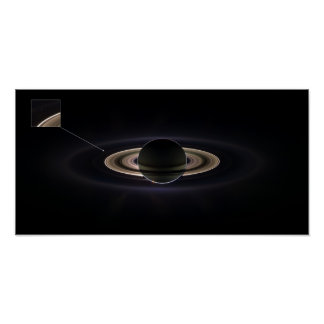 Pale Blue Dot Saturn Poster