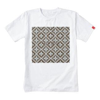 pale blue,fleur de lis,royal,tartan,brown,pattern, zazzle HEART T-Shirt