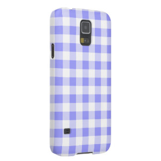 Pale Blue Gingham Case For Galaxy S5