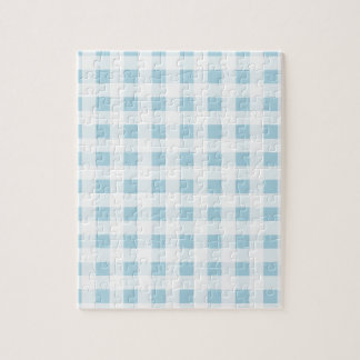 Pale Blue Gingham Jigsaw Puzzle