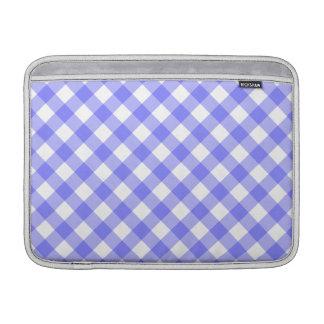 Pale Blue Gingham Macbook Air Sleeve