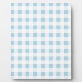 Pale Blue Gingham Plaque