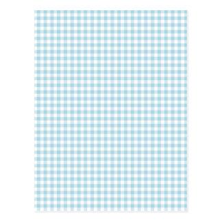 Pale Blue Gingham Postcard