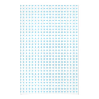 Pale Blue Gingham Stationery