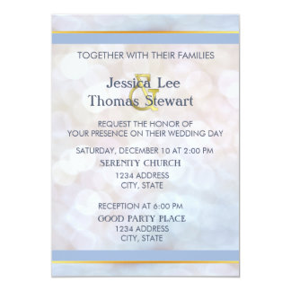 Pale Blue, Gold and Pearl Card