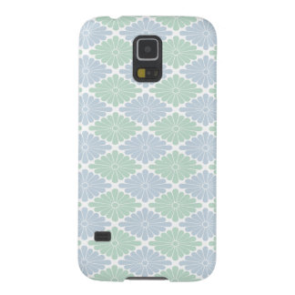 Pale Blue Green Flower Pattern Galaxy Case