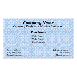 Pale Blue Lacey Look Business Cards