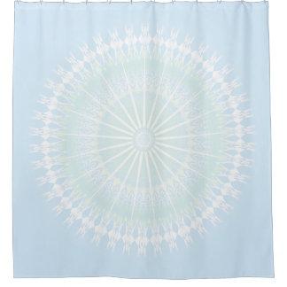 Pale Blue Pastel Mandala Shower Curtain