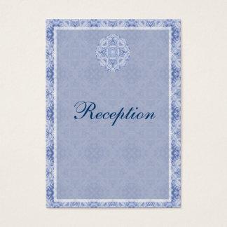 Pale Blue Pattern Wedding Business Card