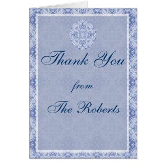 Pale Blue Pattern Wedding Card